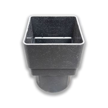 Picture of FLOPLAST SQUARE TO ROUND PIPE ADAPTOR (CAST IRON)