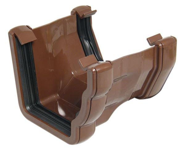 Picture of FLOPLAST R/H OGEE TO SQ GUTTER ADP (BROWN)