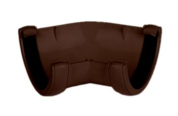 Picture of FLOPLAST ROUND 135 DEG GUTTER ANGLE (BROWN)