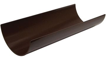 Picture of FLOPLAST 4M HALF ROUND GUTTER (BROWN)