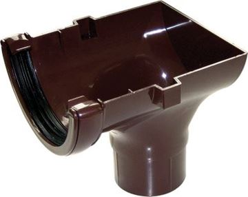 Picture of FLOPLAST ROUND STOPEND OUTLET (BROWN)