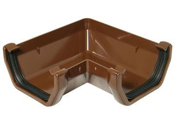 Picture of FLOPLAST SQUARE 90 DEG GUTTER ANGLE (BROWN)