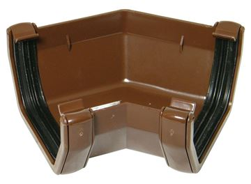 Picture of FLOPLAST SQUARE 135 DEG GUTTER ANGLE (BROWN)