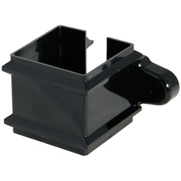 Picture of FLOPLAST SQUARE PIPE CLIP WITH FIXING LUGS (BLACK)