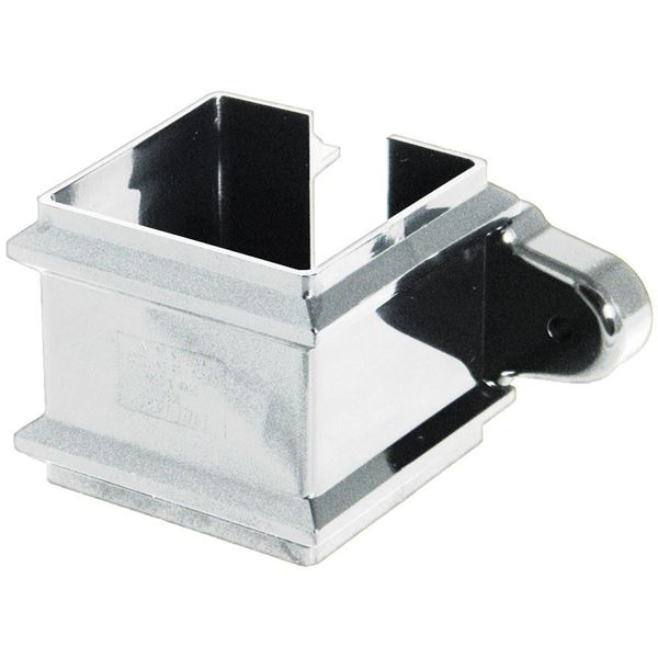 Picture of FLOPLAST SQUARE PIPE CLIP WITH FIXING LUGS (WHITE)