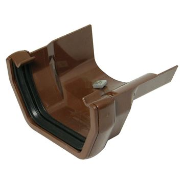 Picture of FLOPLAST SQUARE TO OGEE CAST GUTTER ADAPTOR R/H (BROWN)