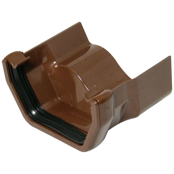 Picture of FLOPLAST SQUARE TO OGEE CAST GUTTER ADAPTOR L/H (BROWN)
