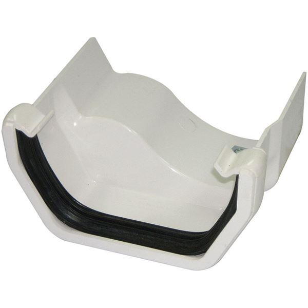 Picture of FLOPLAST SQUARE TO OGEE CAST GUTTER ADAPTOR L/H (WHITE)