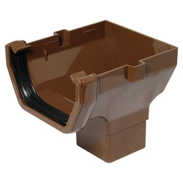 Picture of FLOPLAST SQUARE STOPEND OUTLET (BROWN)