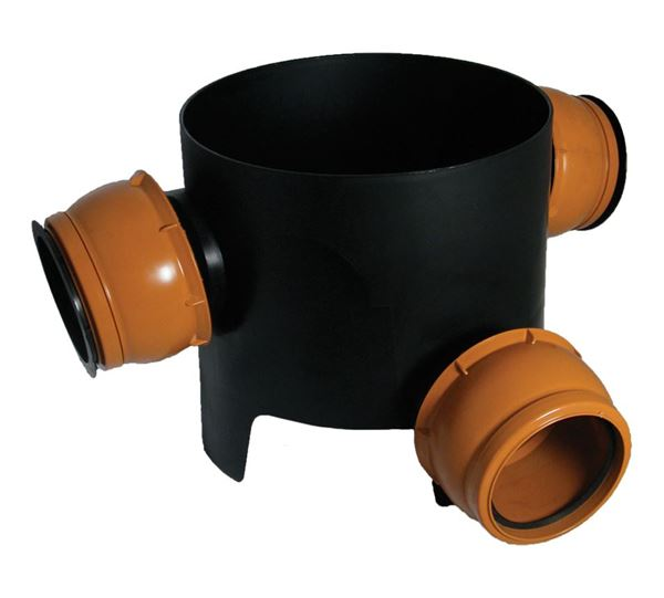 Picture of 270mm CHAMBER BASE (3 FLEXIBLE 90 DEG INLETS)