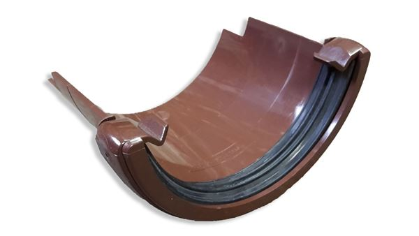 Picture of FLOPLAST ROUND TO ROUND CAST GUTTER APT (BROWN)