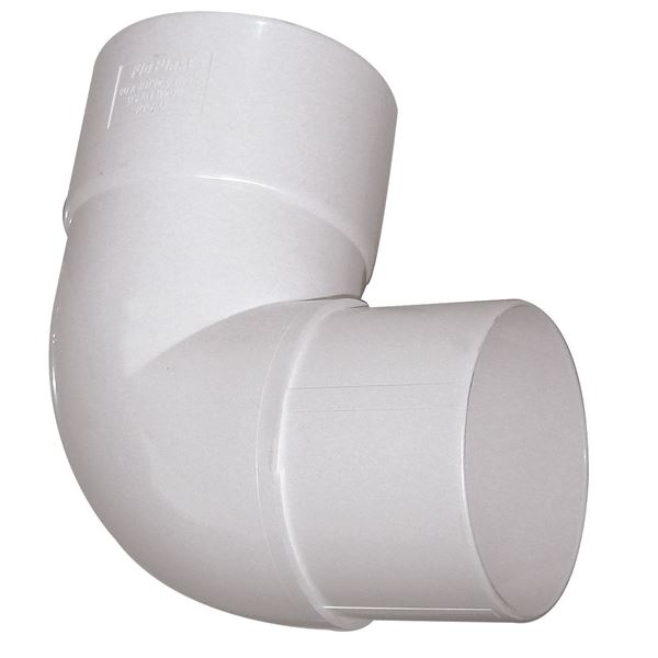 Picture of FLOPLAST 80mm - 92.5 DEG BEND (WHITE)