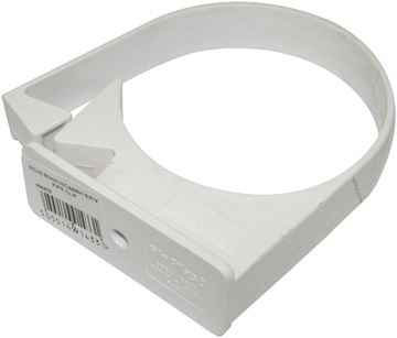 Picture of FLOPLAST 80mm - PIPE CLIP (WHITE)