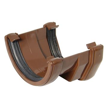 Picture of FLOPLAST SQUARE TO ROUND GUTTER ADAPTOR (BROWN)