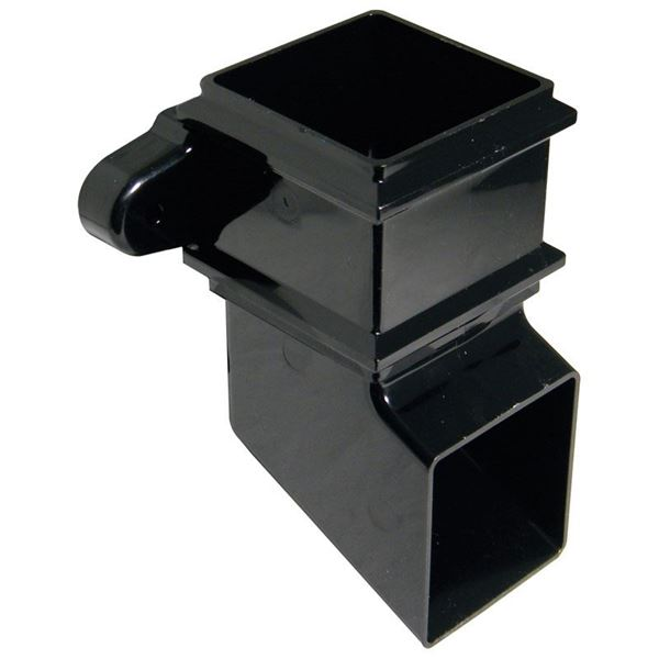 Picture of FLOPLAST SQUARE SHOE WITH FIXING LUGS (BLACK)