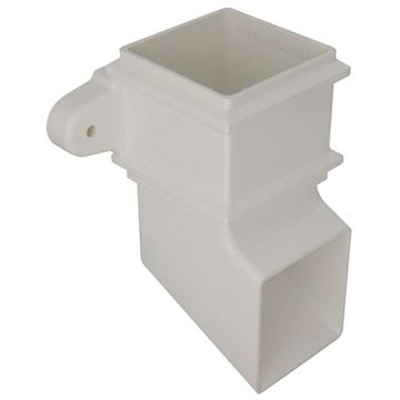 Picture of FLOPLAST SQUARE SHOE WITH FIXING LUGS (WHITE)