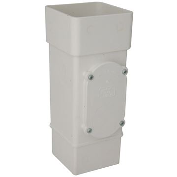 Picture of FLOPLAST SQUARE ACCESS PIPE (WHITE)