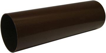 Picture of FLOPLAST 80mm - 4M ROUND PIPE (BROWN)