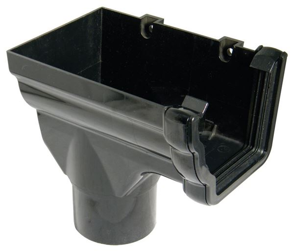 Picture of FLOPLAST OGEE STOPEND OUTLET L/H (80mm) (BLACK)